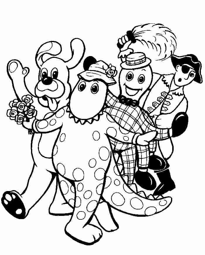 The Wiggles Coloring Pages