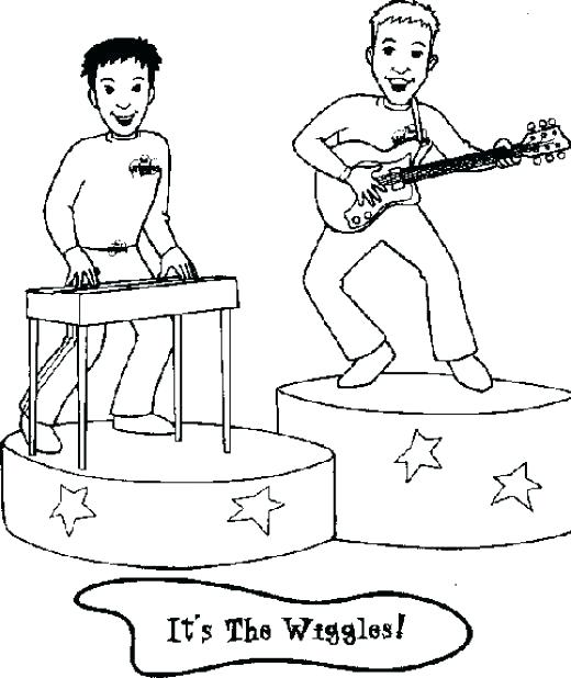 520x618 The Wiggles Coloring Pages Here Are The Wiggles Coloring Pages