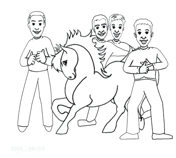 600x540 The Wiggles Coloring Pages The Wiggles Coloring Pages Printable