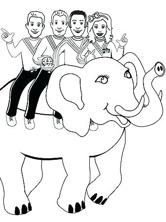 340x453 The Wiggles Coloring Pages Wiggles Coloring Page New Wiggles
