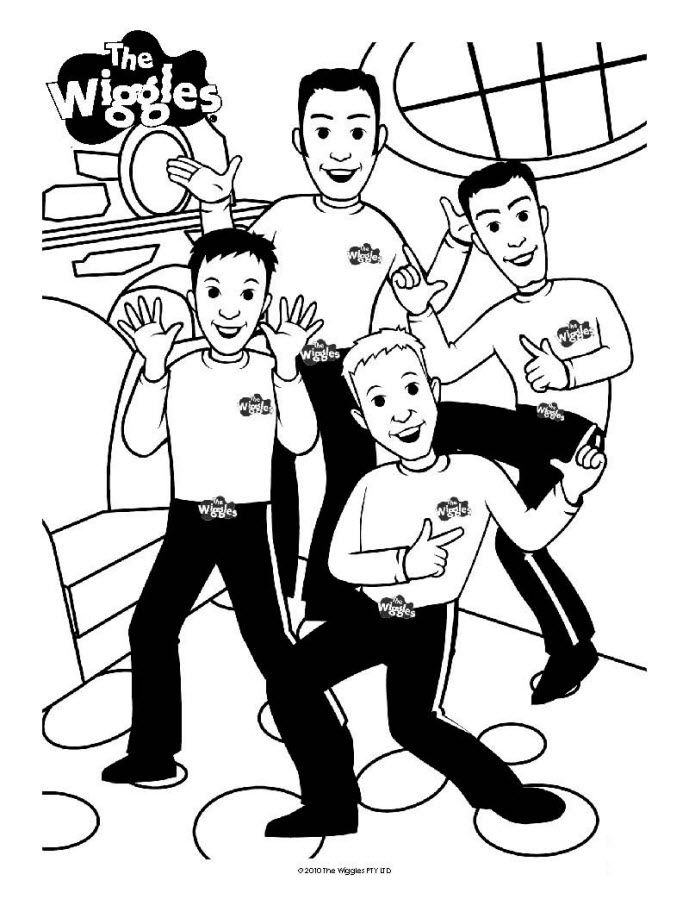 689x905 Wiggles Coloring Pages Free Printable