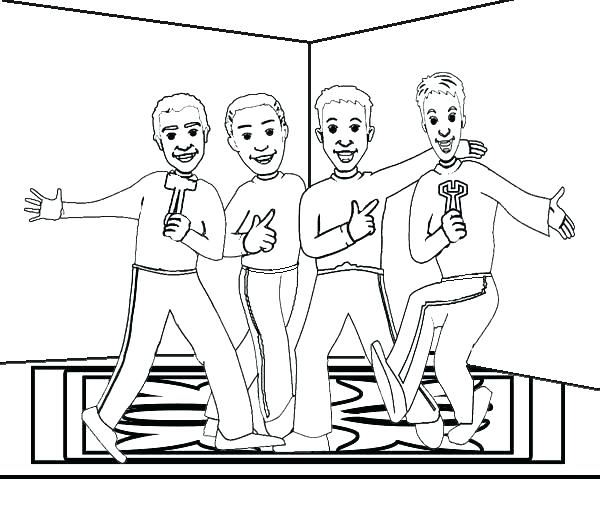 600x520 Coloring The Wiggles Coloring Pages Medium Size