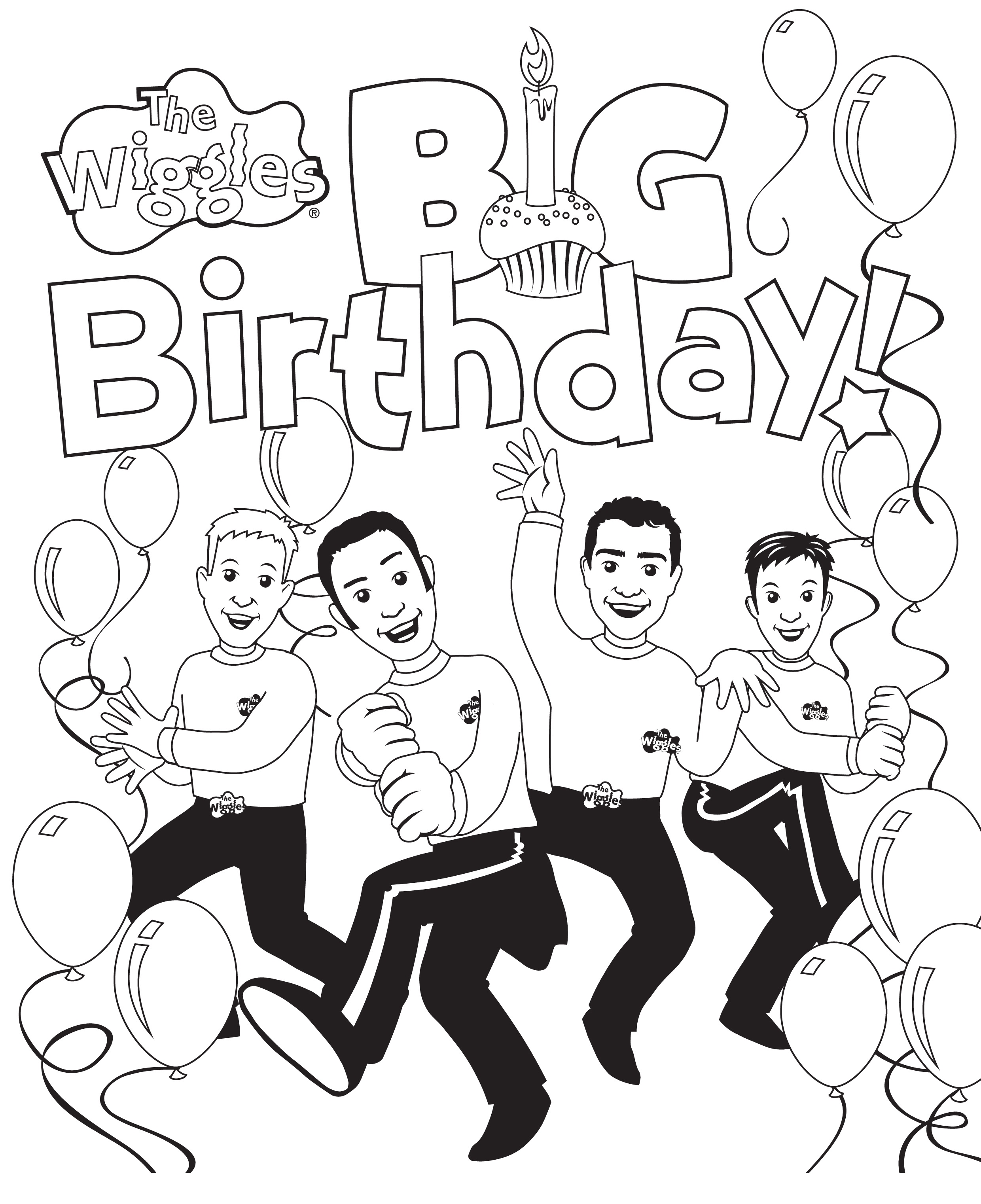 2480x3044 Free Printable Wiggles Coloring Pages For Kids
