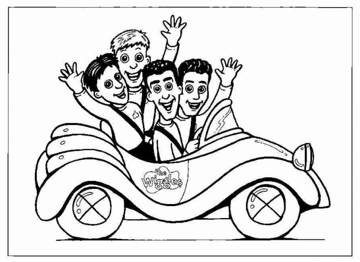 713x520 Fun Coloring Pages The Wiggles Coloring Pages