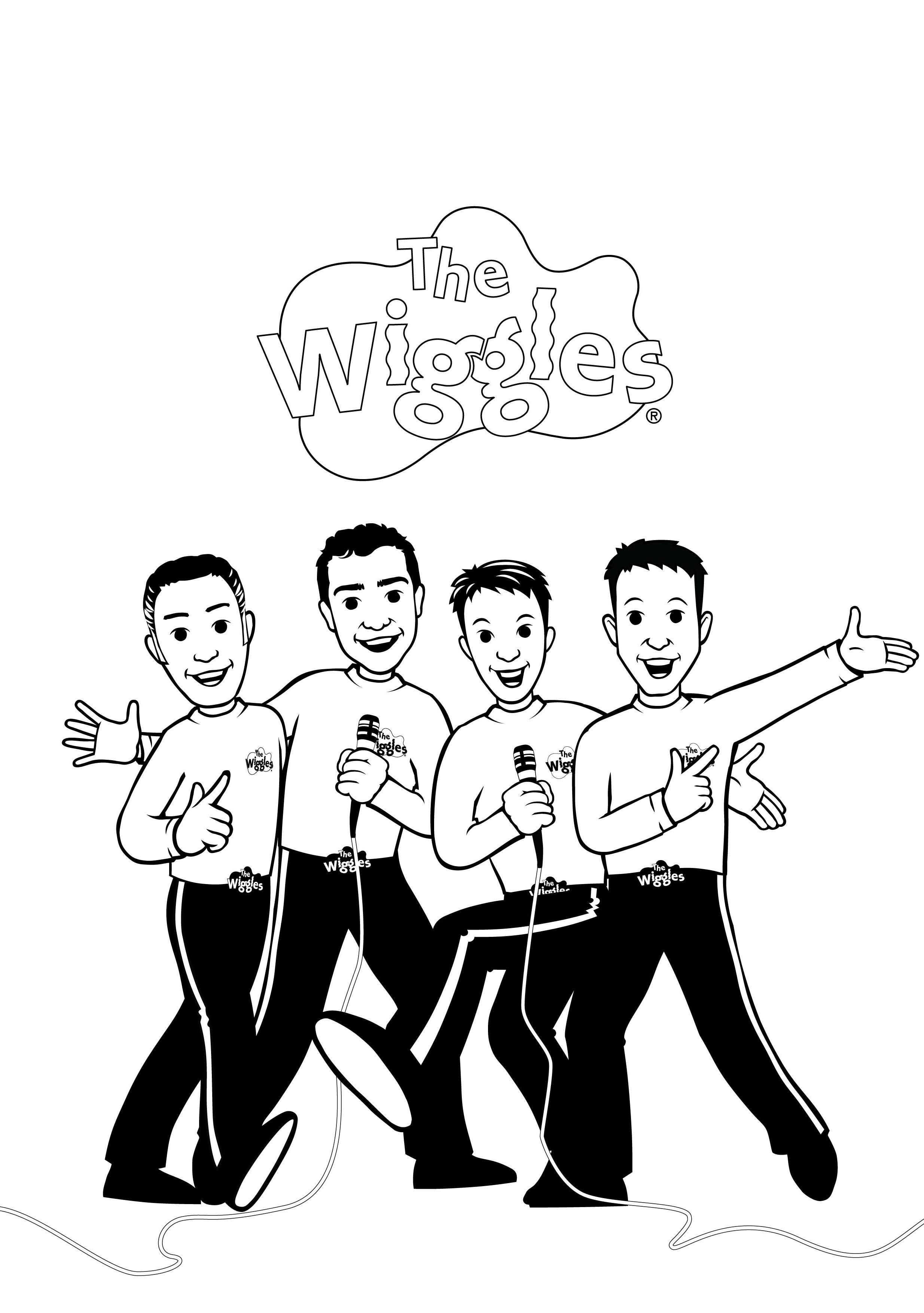 2469x3508 Printable Wiggles Coloring Pages Me Throughout The Childlife