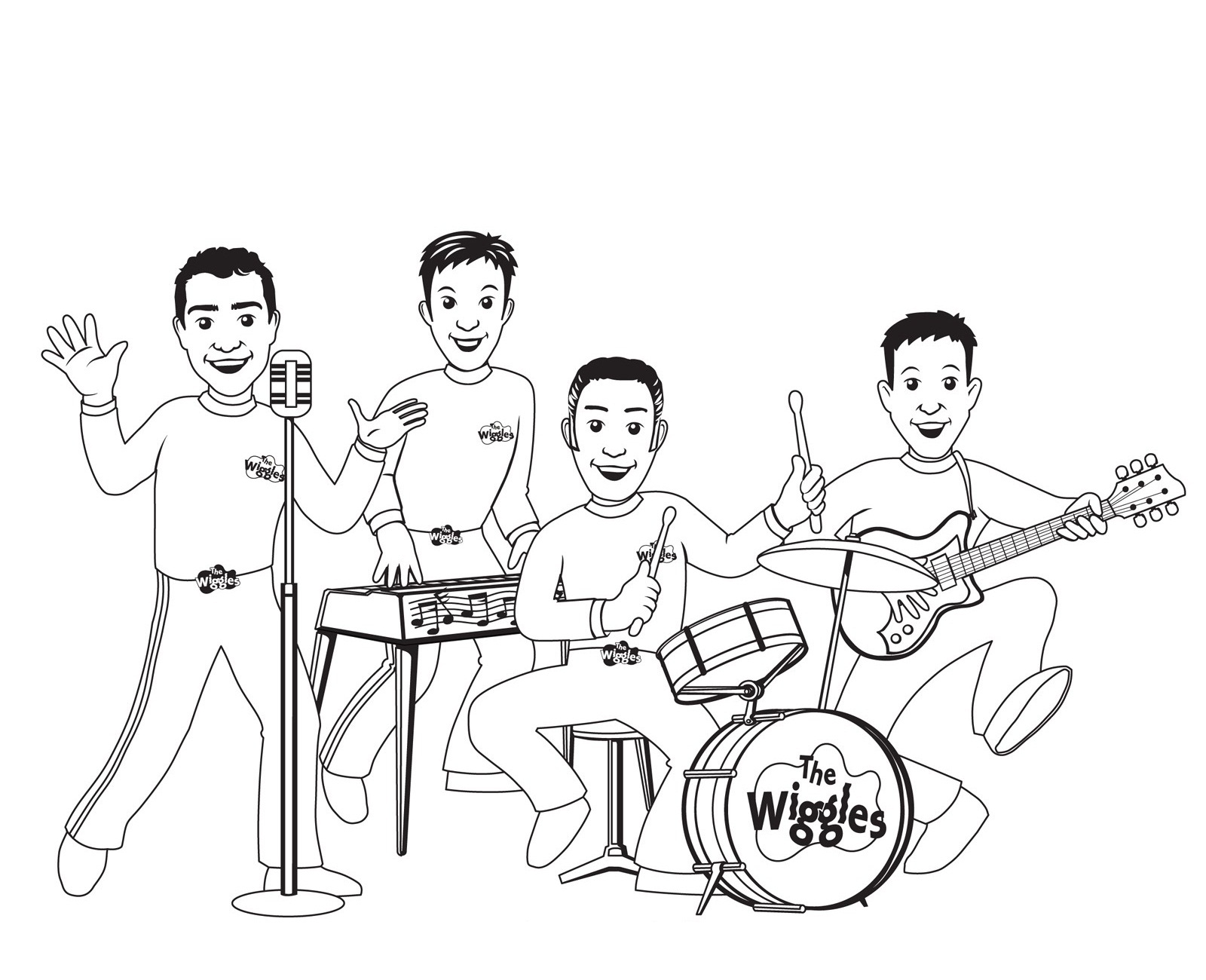 1600x1300 The Wiggles Coloring Pages