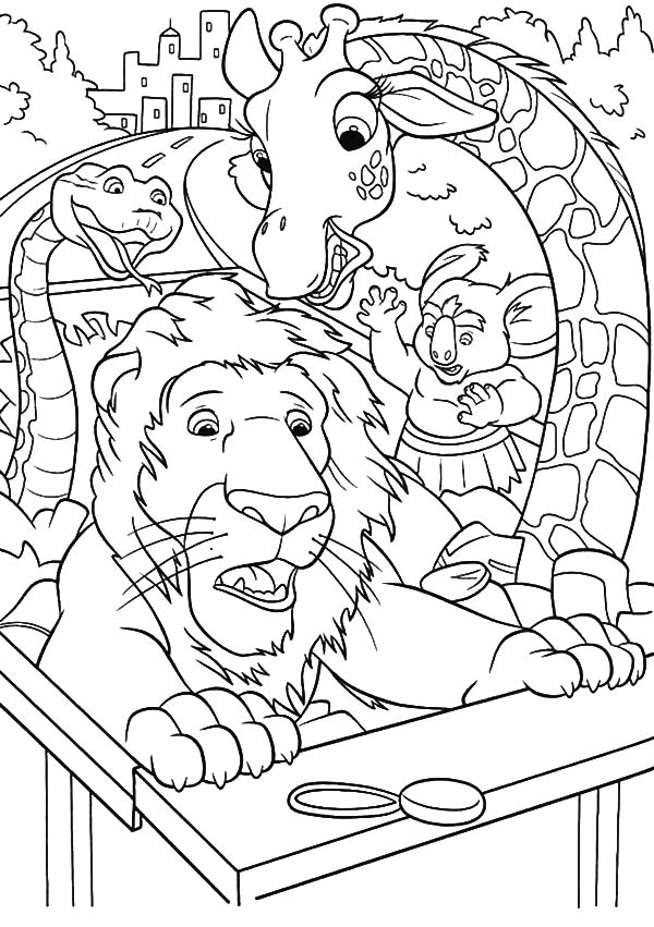 600x851 The Wild Riding Truck On Highway Coloring Pages The Wild Riding