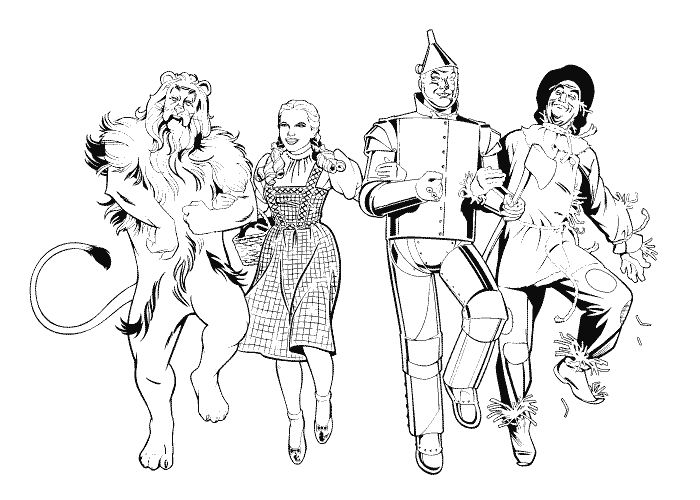 700x500 Download Wizard Of Oz Coloring Pages Church Young Women