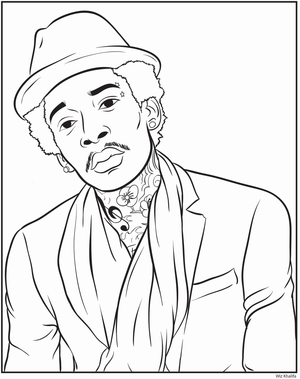993x1257 Best Colorfy Images On Wiz Khalifa Coloring Pages