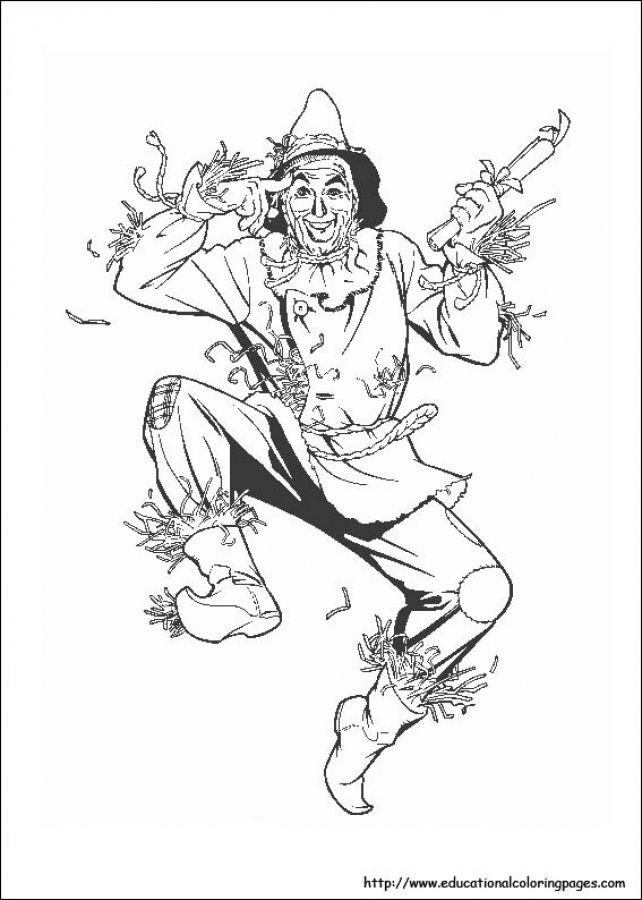 642x900 Scarecrow In Free Wizard Of Oz Printable Coloring Pages Fun