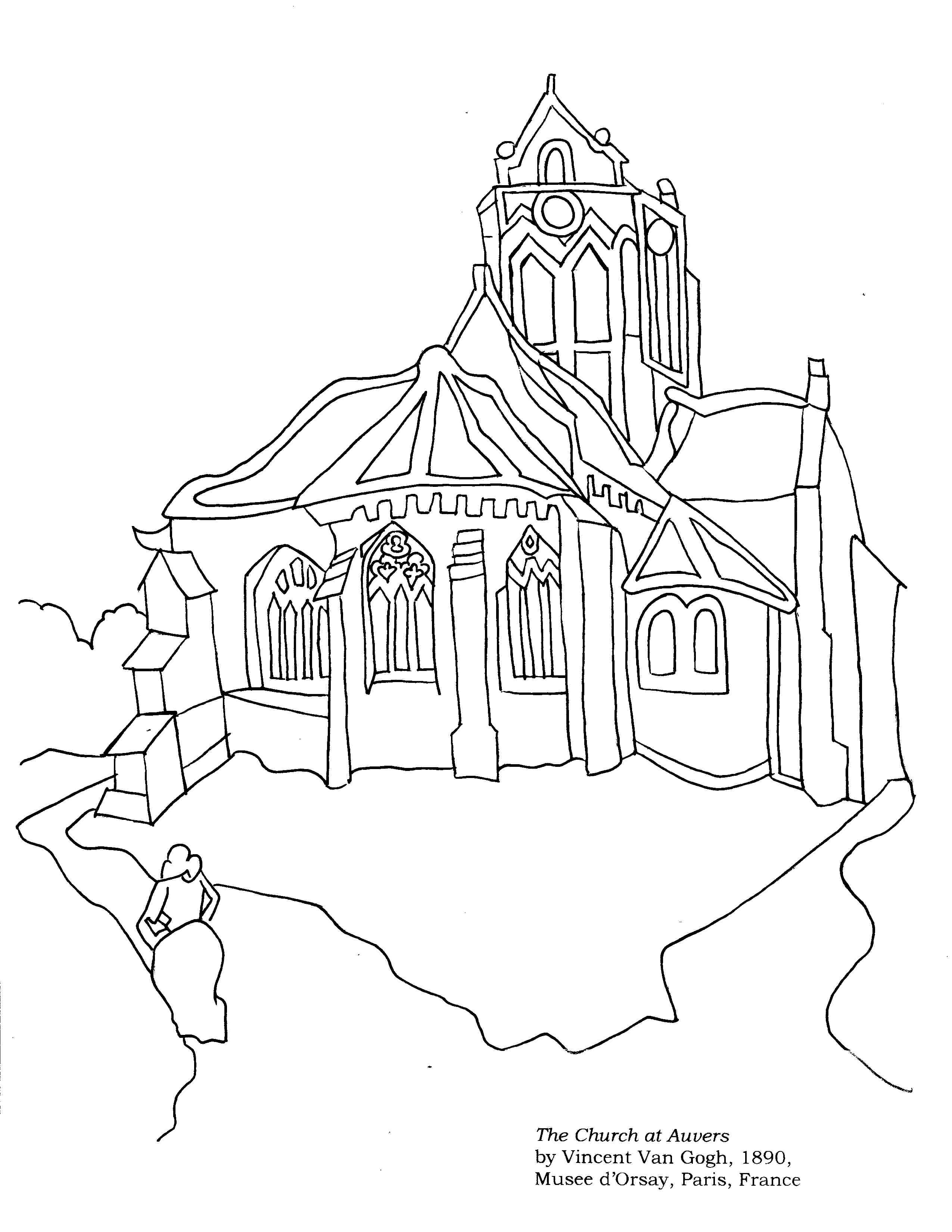 2550x3300 Unique Church Coloring Page Collection Printable Coloring Sheet