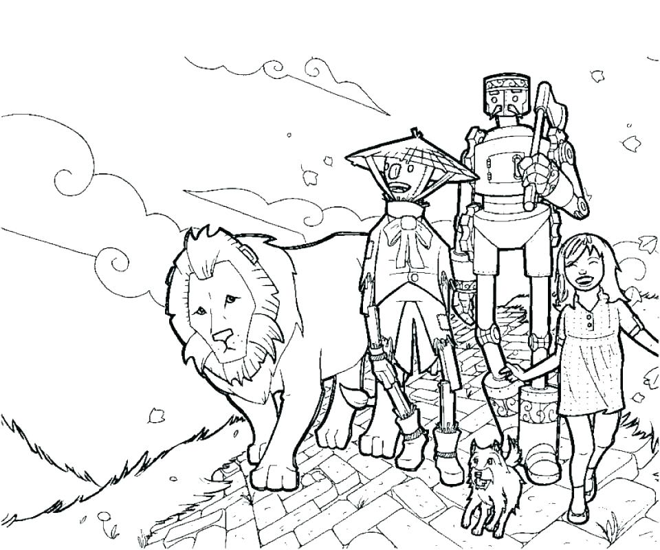 960x800 Wizard Of Oz Coloring Pages Free Wizard Of Oz Coloring Pages Free