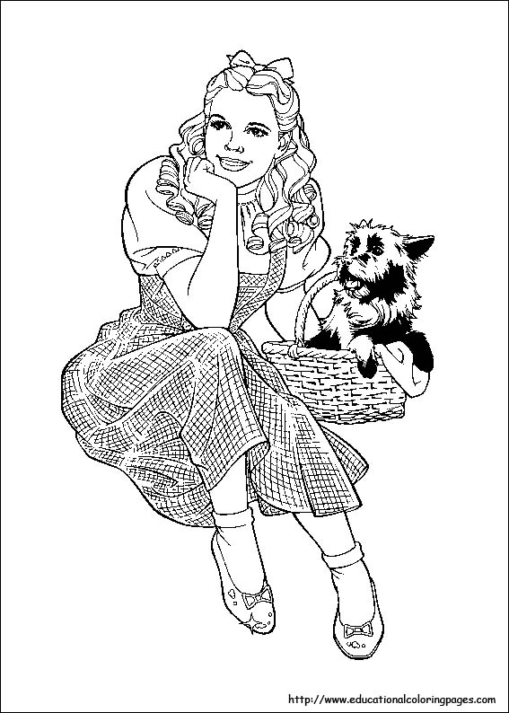 567x794 Wizard Of Oz Coloring Pages Free For Kids