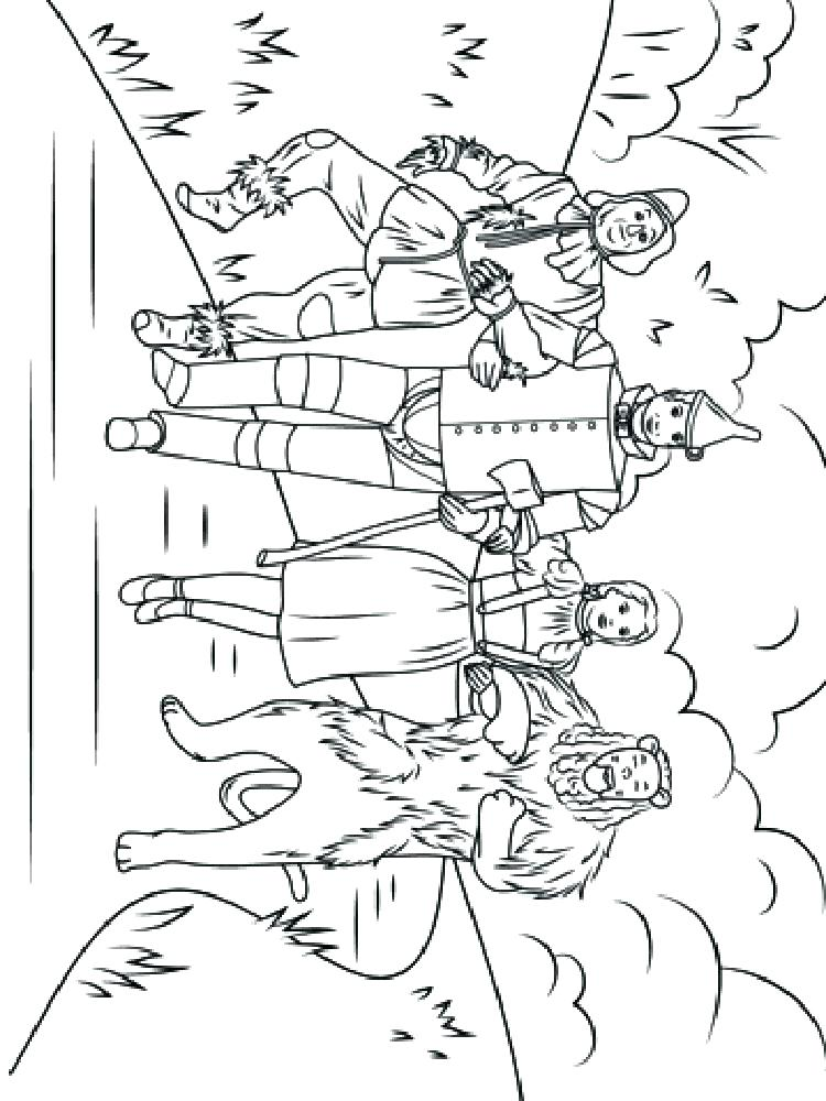 750x1000 Wizard Of Oz Pictures To Color Wizard Of Oz Coloring Pages Free