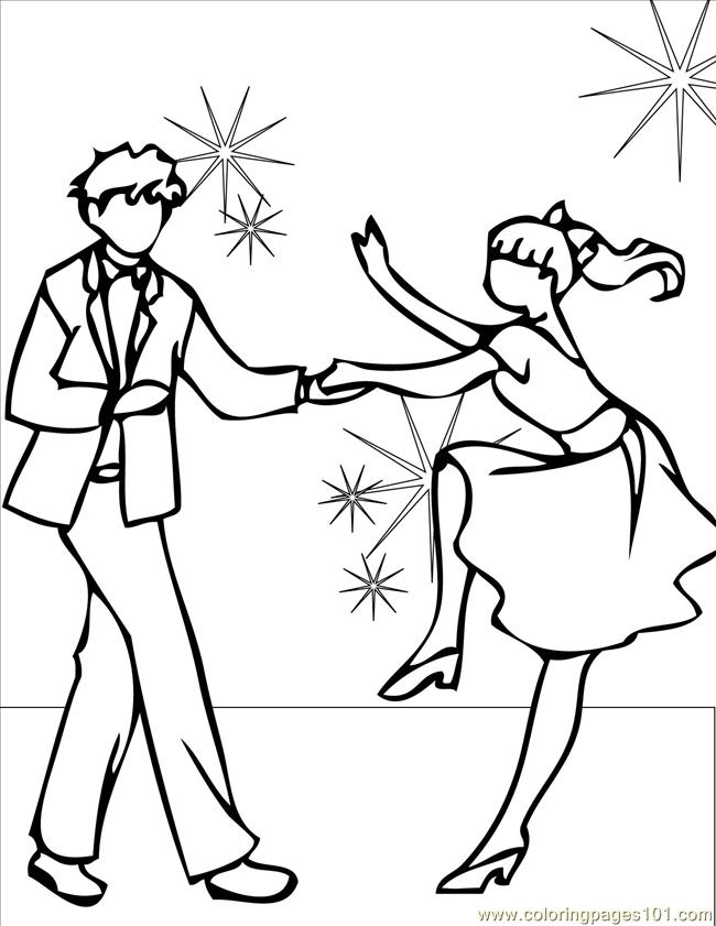 650x841 Dancing Coloring Pages Printable