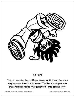 304x392 Old School Break Dancing Design Hip Hop Coloring Book Compiled