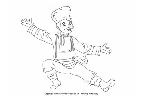 460x326 Russian Dancer Colouring Page