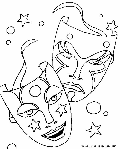 Theatre Coloring Pages