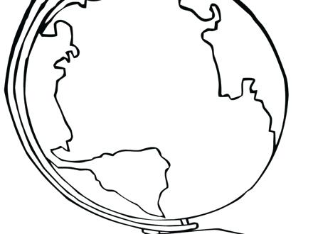 440x330 Globe Coloring Pages Globe Coloring Snow Globe Coloring Page Globe