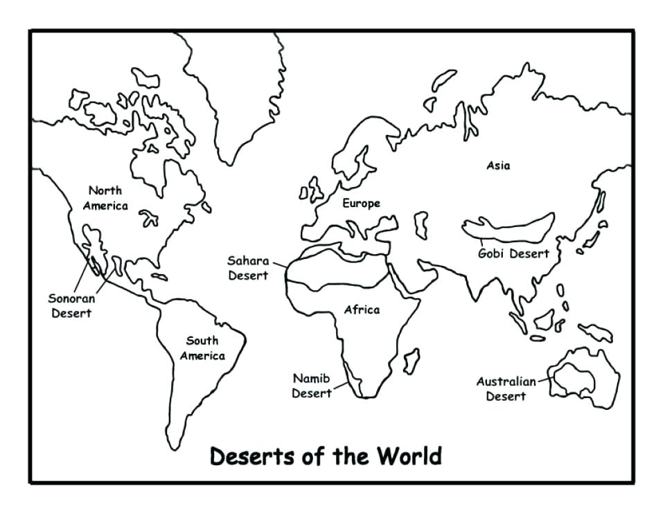 960x741 Globe Coloring Pages Map Coloring Pages Simple World Map Coloring