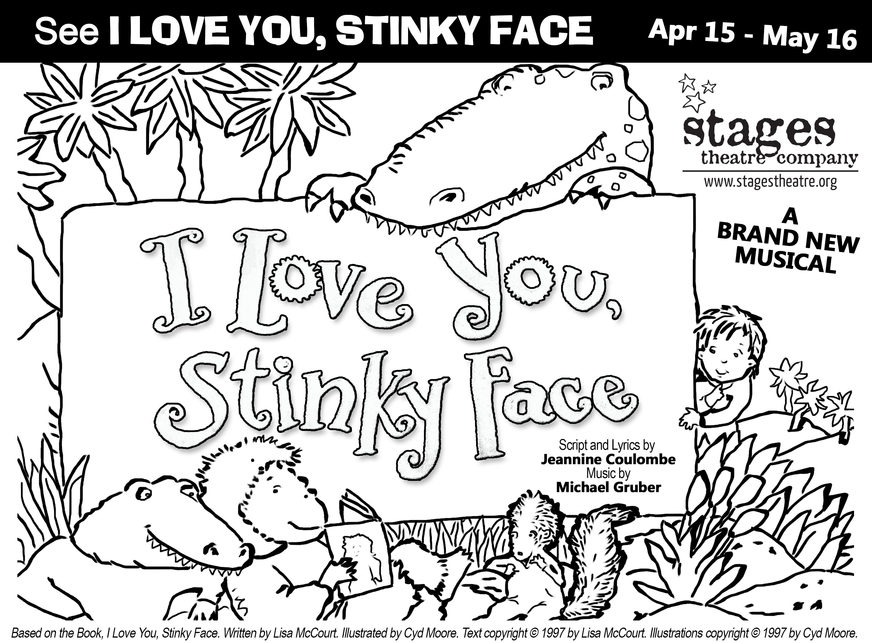 3060x2256 I Love You Stinky Face Coloring Pages Best Of Stages Theatre Pany