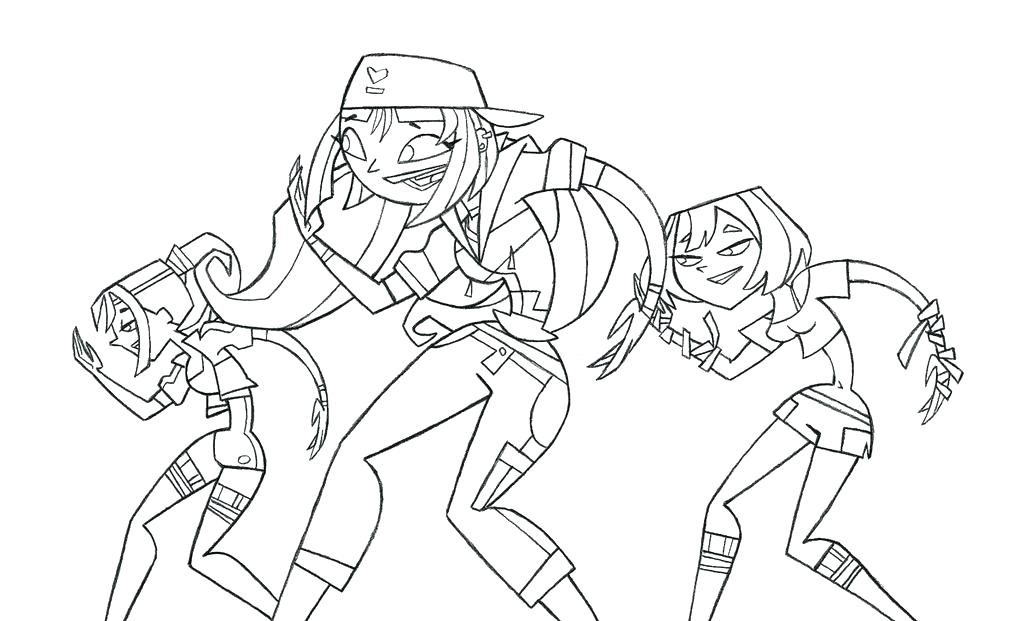 1024x621 Total Drama Coloring Pages Island Coloring Pages Total Drama