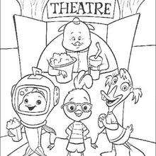 220x220 Chicken Little Says Goodbye Coloring Pages