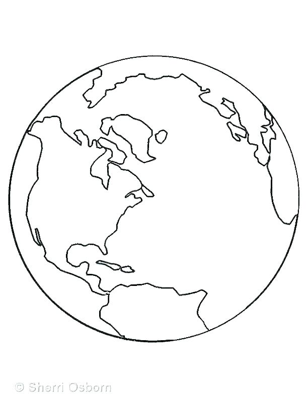612x792 Globe Coloring Pages