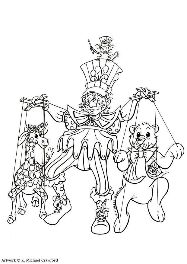 620x875 Theater Coloring Pages Coloring Page Puppet Show