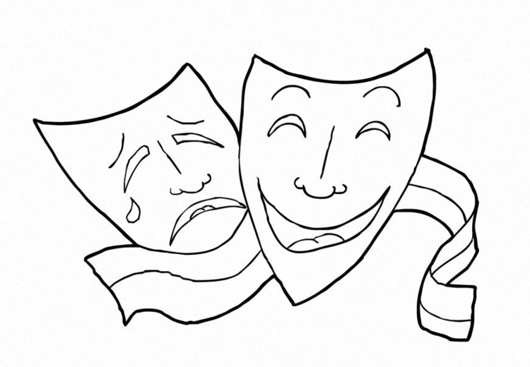 750x520 Coloring Page Theatre