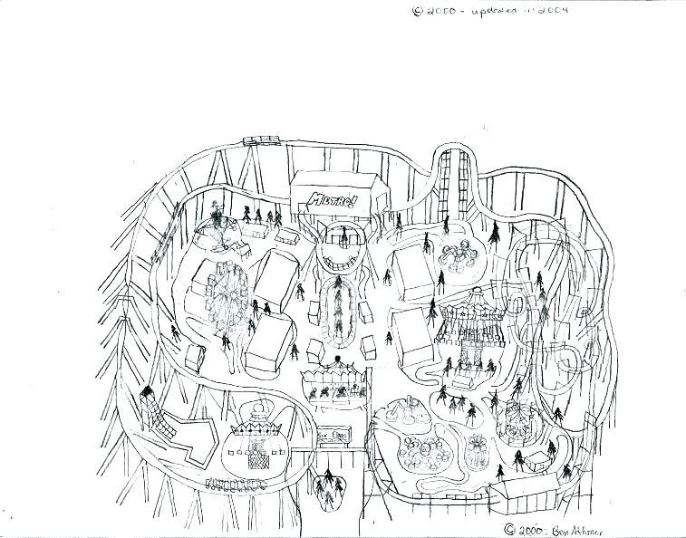 757x594 Amusement Park Coloring Pages Amusement Park Coloring Pages