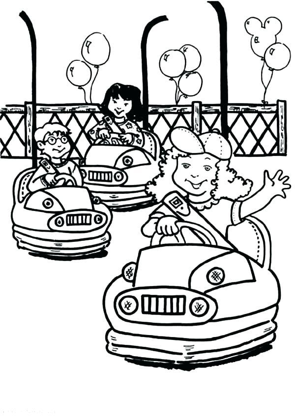 600x848 Water Park Coloring Pages Amusement Park Coloring Pages Bumper