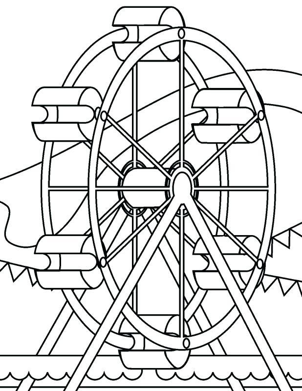 618x800 Amusement Park Coloring Pages Coloring Page For Kids Amusement