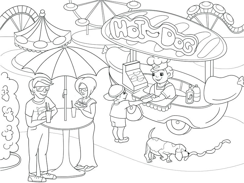 800x600 Amusement Park Coloring Pages Download Amusement Park Coloring