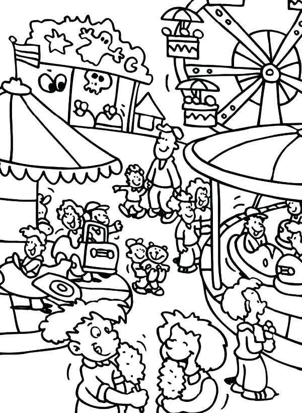 600x821 Amusement Park Coloring Pages Stunning Theme Park Coloring Sheets