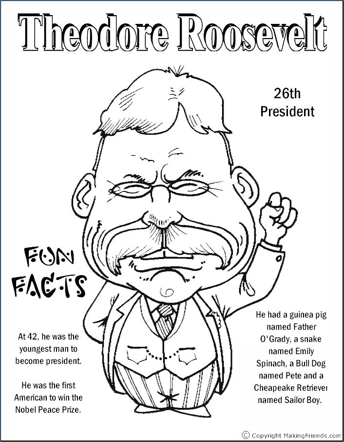 706x906 Theodore Roosevelt Coloring Page Coloring Pages