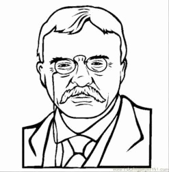 247x252 Theodore Roosevelt Coloring Page Pics Teddy Roosevelt Coloring