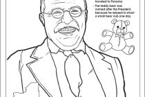 210x140 Theodore Roosevelt Coloring Page Teddy Roosevelt Coloring Page