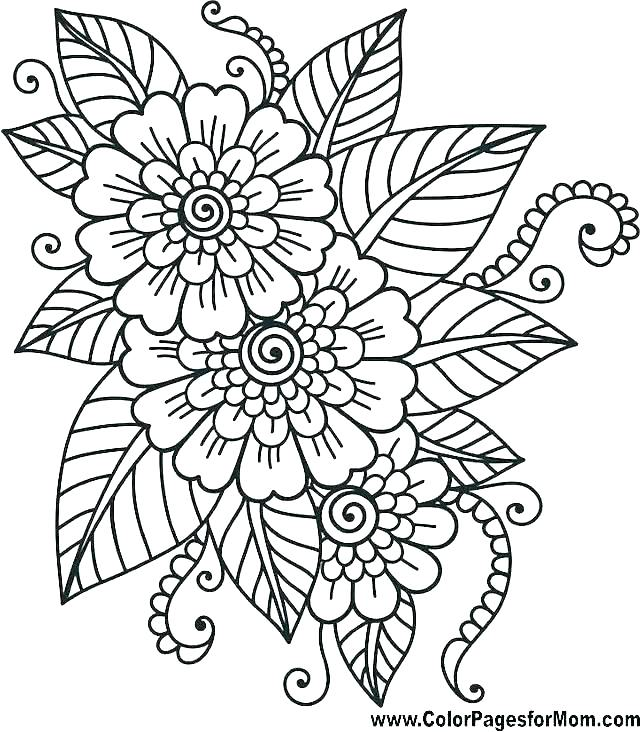 640x732 Art Therapy Coloring Pages Printable Packed With Flower Page Free