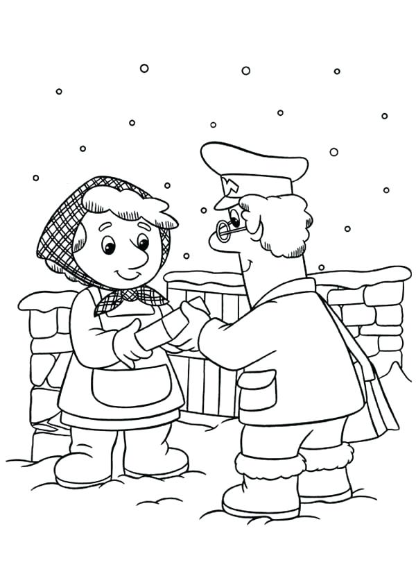 600x840 Thermometer Coloring Page Postman Pat Postman Pat Still Deliver