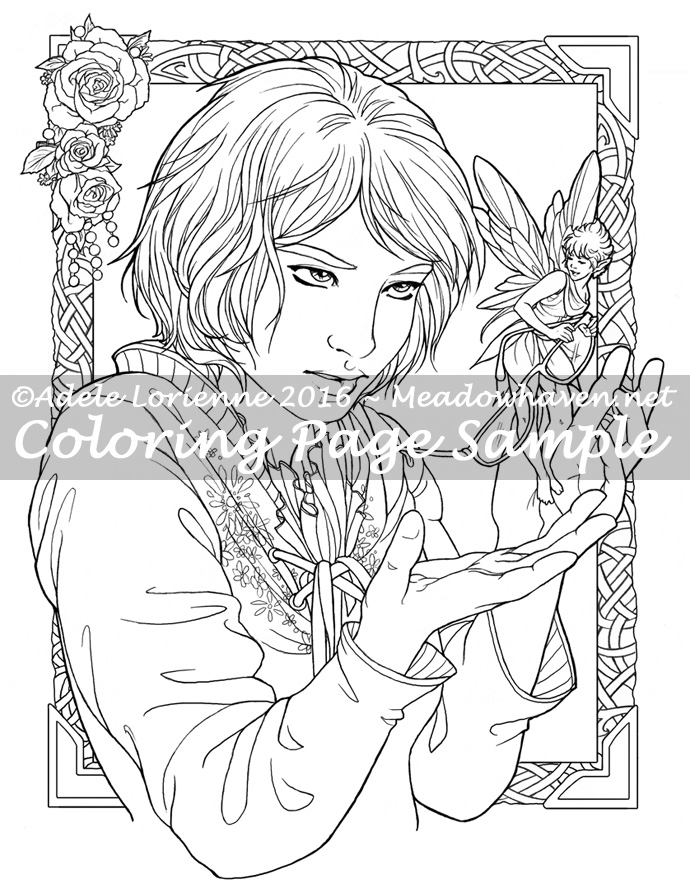690x889 Fairy Thief Coloring Page Meadowhaven