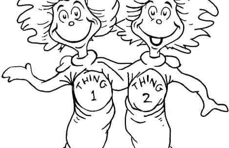 469x304 Dr Seuss Color Pages Coloring Pages Thing And Thing Dr Seuss
