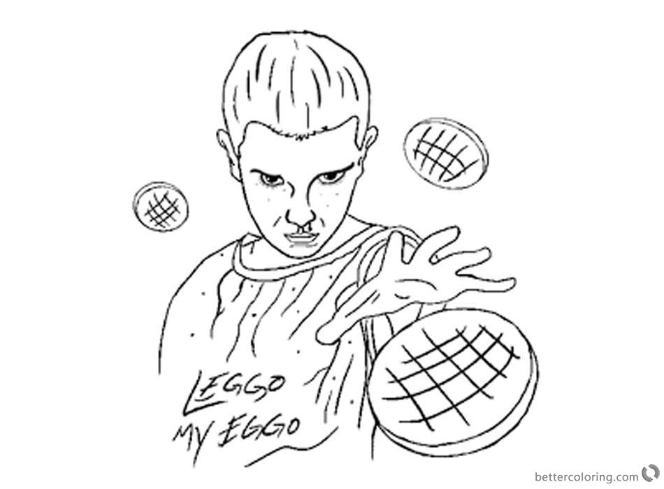 950x700 Stranger Things Coloring Pages Eleven Work