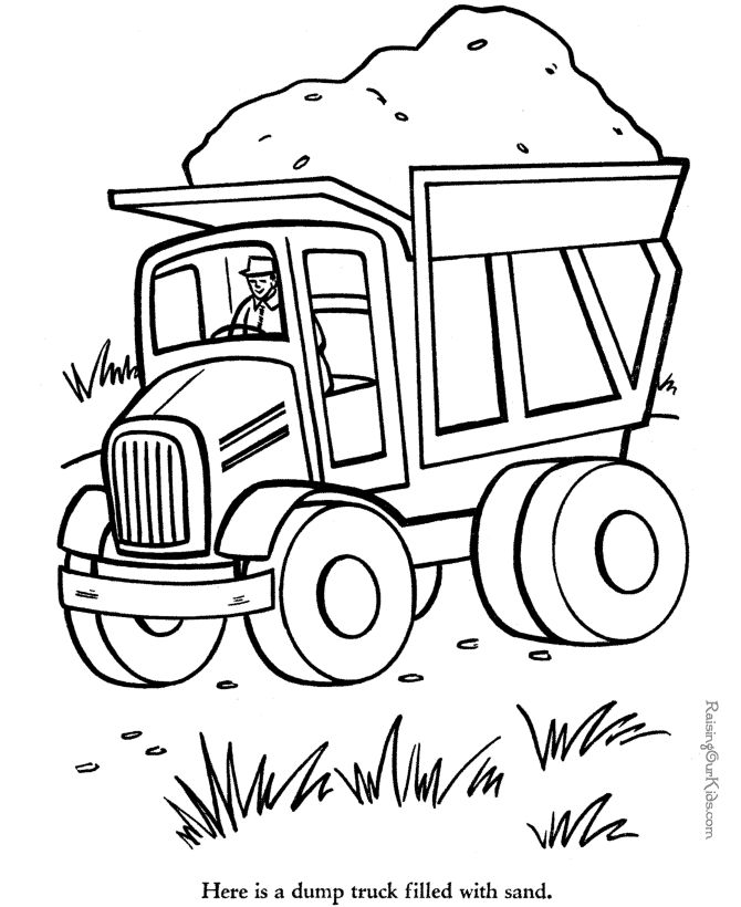 Things That Go Coloring Pages