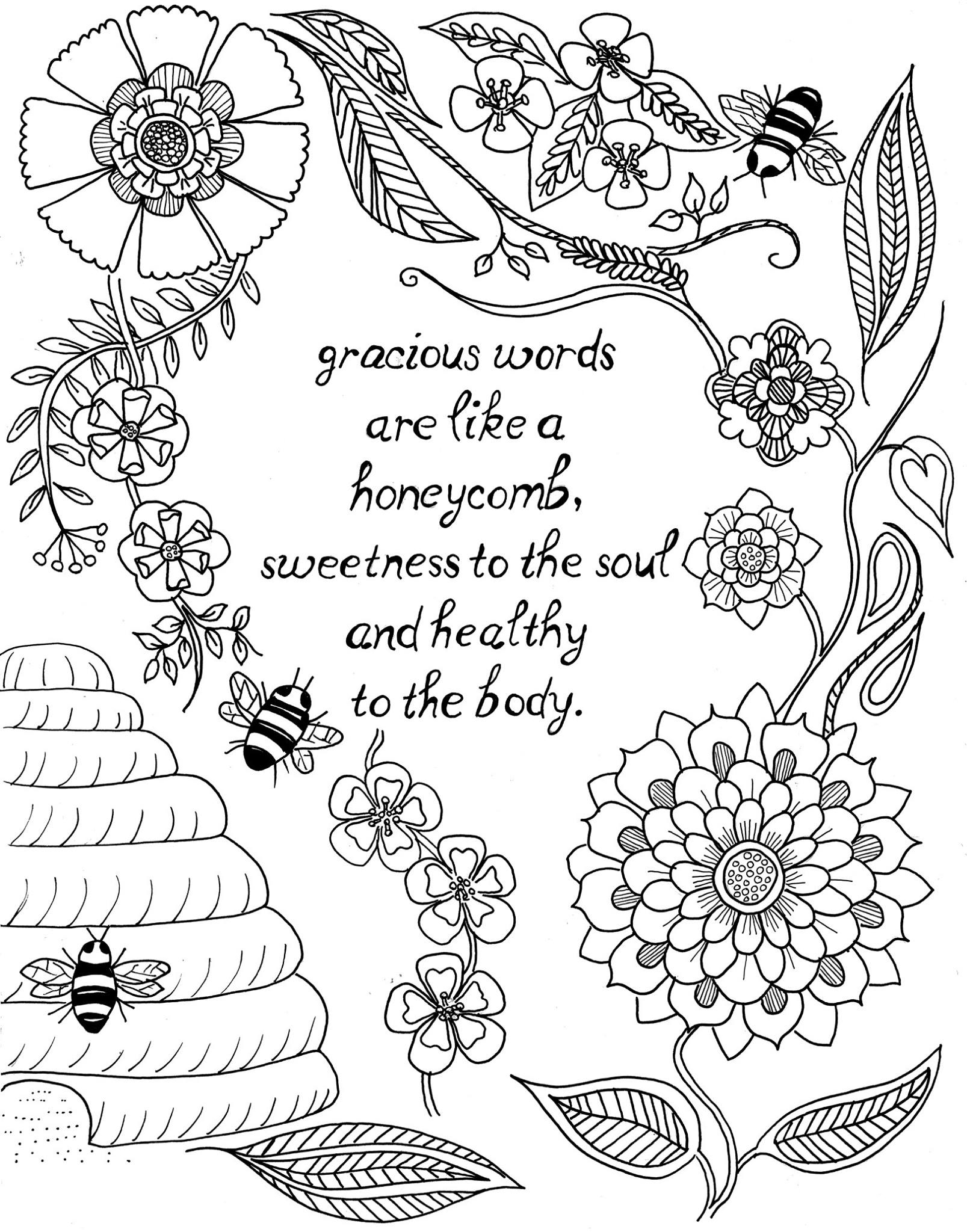 1607x2048 Just What I Squeeze In Coloring Page Glorious Things