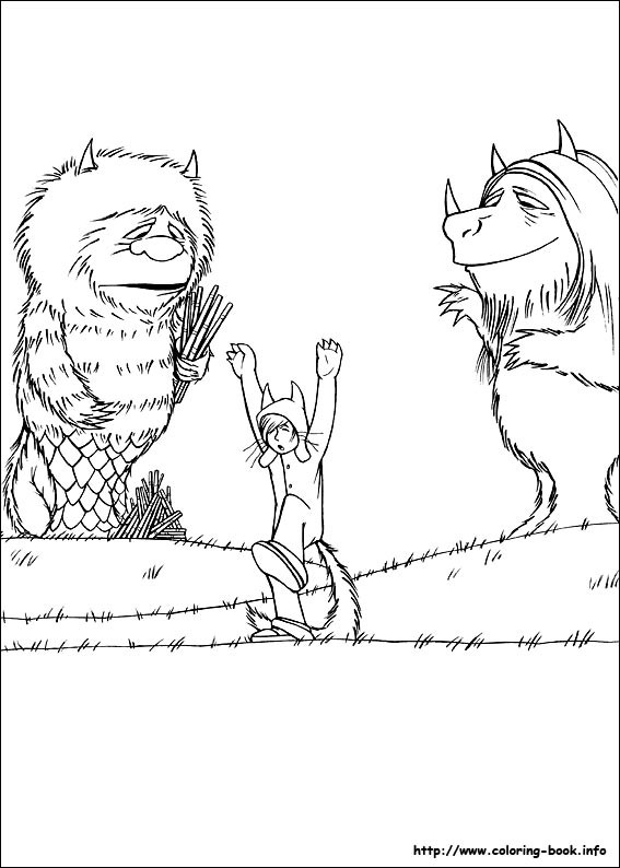 567x794 Where The Wild Things Are Coloring Sheets Go Digital With Us