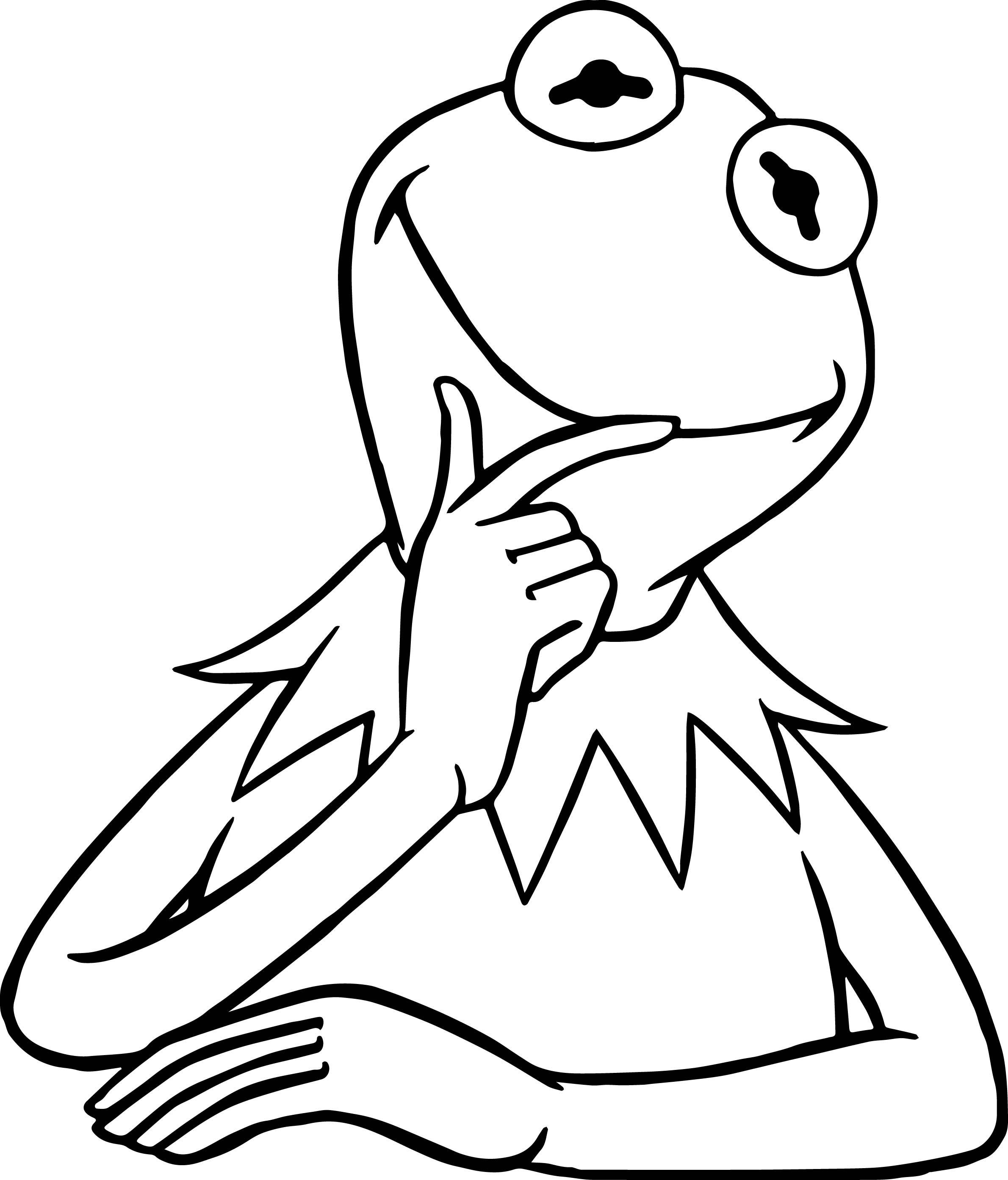 2380x2787 Marvelous The Kermit Frog Think Coloring Pages Wecoloringpage