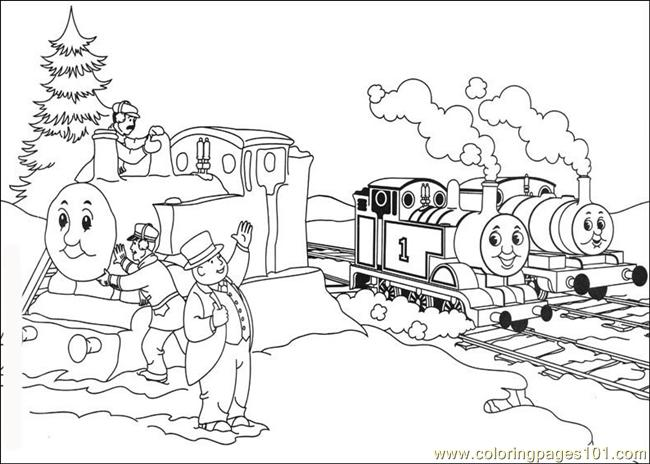 650x464 Thomas And Friends Coloring Page