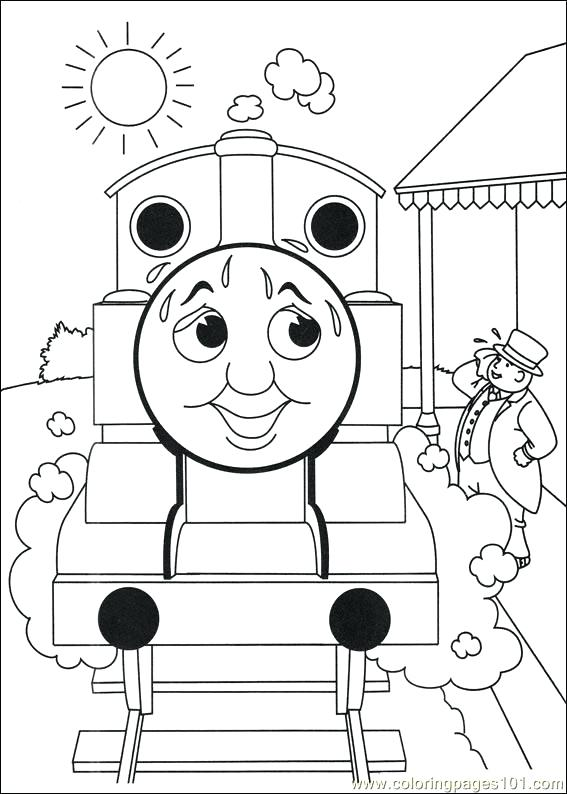 567x794 Thomas And Friends Coloring Page Coloring Pages Of And Friends