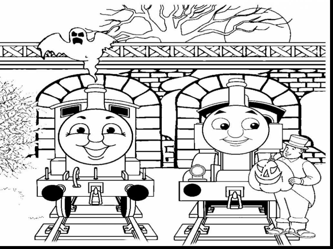 1126x844 Thomas And Friends Coloring Pages For Christmas